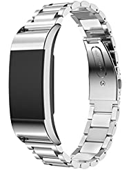 Fitbit Charge 2 Armband, OverDose Genuine Edelstahl-Armband Smart Watch Band-Bügel für Fitbit Charge 2