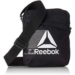 Reebok CE0934 Act Fon City Bag Bolso Bandolera, 25 cm, Negro