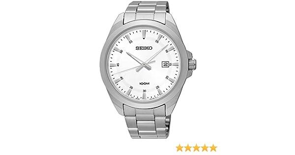 Seiko Herren Armbanduhr 42mm Armband Edelstahl + Gehäuse Batterie SUR205P1