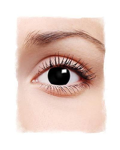 Horror-Shop Schwarze Hexe 1-Tages Kontaktlinsen für Halloween Kostüme