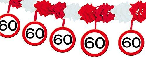 23-tlg. Partyset 60. Geburtstag Dekoset Dekobox – Verkehrschild – Girlanden, Luftballons - 3