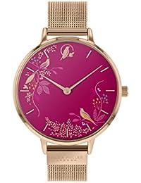 Sara Miller Chelsea Collection SA4000 - Reloj con Correa de Malla chapada en Oro Rosa
