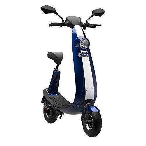 Ford Elektroroller OjO – Stylischer Elektro Scooter max. 25 km/h – Blau/Silber