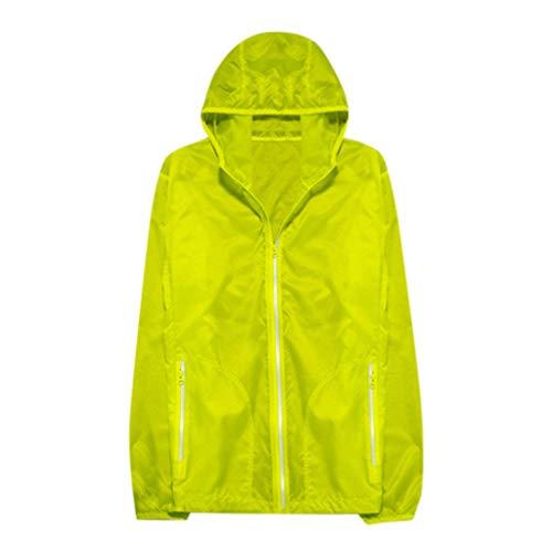 GJKK Outdoor Sportjacke UPF 50+ Sonnenschutz Jacke Anti-UV Jacke Quick Dry Softshell Jacke Ultraleicht wasserdichte Windbreaker Dünne atmungsaktive Regenjacke Hoodie Top ()