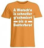 Hochwertiges Übergrößenshirt - A WATSCH`N is Schneller. - Bayerisch · Boarisch · Bayrisch · Shirt · Lustig · Spruch · Pulli · Jacke · Hoodie · T-Shirt · Geschenk