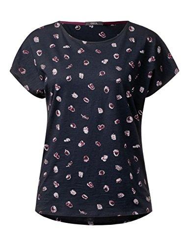 Cecil T-Shirt Donna Blau (Deep Blue 30128)