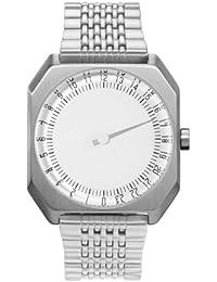 Slow Jo 01 Montre bracelet Mixte, Acier Inoxydable, couleur: Argent