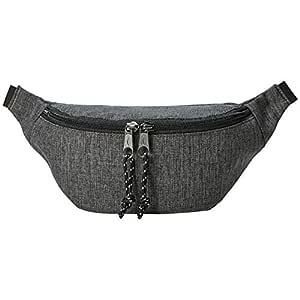 AmazonBasics Bum Bag with Double Pocket, 3L, Grey