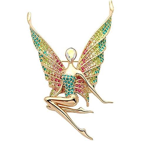 FPP Austríaco del taladro del embutido de la manera / hermoso broche de ángel , green