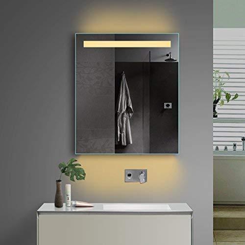 Lux-aqua LED Beleuchtung Badezimmerspiegel Bad Spiegel Kaltweiß Warmweiß mit Steckdose TSL60-70