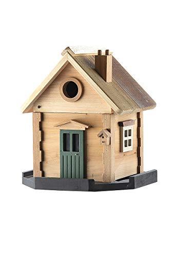 GILDE Vogelhaus Wildlife Garden -wetterbeständiges Holz - für Kleinvögel H 25 cm