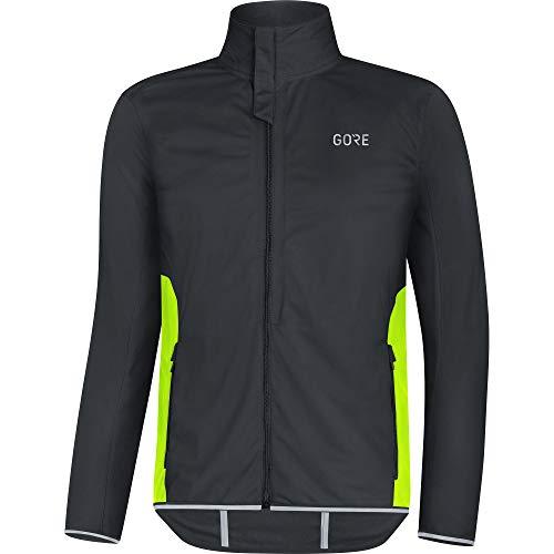 GORE Wear R3 Herren Jacke GORE WINDSTOPPER, XL, Schwarz/Neon-Gelb