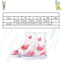 NO LOGO KMDSM Kids waterproof shoe cover rabbit whale elephant cartoon prints polyester children rain boots covers at outdoor for hiking DW277