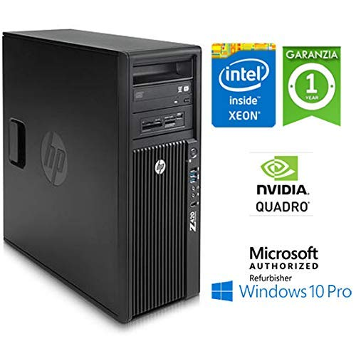 Workstation HP Z420 Xeon HEXA Core E5-1650 v2 32Gb 1Tb K5000 4Gb Windows 10  Pro con licenza nuova Simpaticotech MAR Microsoft Authorized Refurbisher
