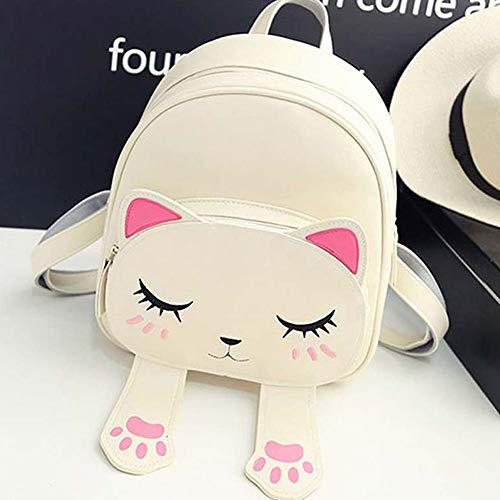 Bizarre Vogue Cute Small Cat Style Backpack for Girls (Cream,BV1204) Image 2