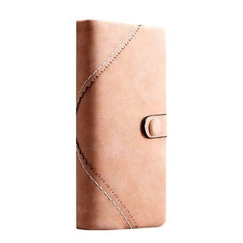 YTTX Moda Signora di pelle Portafogli Pulsante Lungo Da Donna Borsetta Borsa (Pink) Pink
