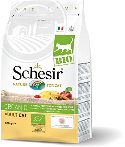 Schesir Bio Adult Cat Kroketten Biologie für die Versorgung Katzen Adulti 400 Gramm