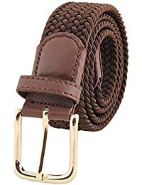 Cinture Per Uomo Elastico Pantaloni Casual Pantaloni Cinture Fibbia  Multicolore Cinture Di Tessuto Uomo Desiderio Confezione 9b7f0f81944