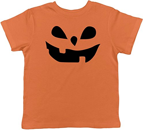 Crazy Dog TShirts - Toddler Teardrop Eyes Pumpkin Face Funny Fall Halloween Spooky T shirt (Orange) 3T - baby-jungen - (Nette Witz Halloween Kinder)