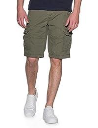 Romano Men's Stylish Cotton Cargo Shorts Bermuda With Multi-Pockets & Side Zipper