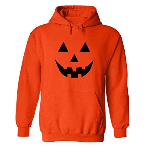 WOCACHI Herren Dünner Kapuzenpullover Männer Halloween Kürbis Grimasse gedruckt Langarm Hoodie Kapuzen Sweatshirt Tops (EU:XS(Asian:M), (Batman Kürbisse)