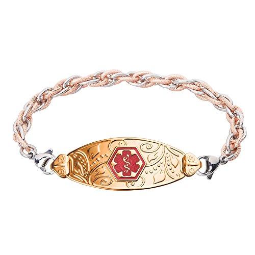divoti-custom-engraved-pvd-gold-lovely-filigree-medical-alert-bracelet-inter-mesh-rose-gold-silver-t