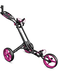 iCart One 3 Wheel One Click Push Trolley 2017 Grey/Pink