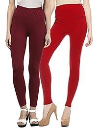 Sakhi Sang Legging Pack of 2 : Maroon & Red