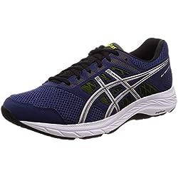 Asics Gel-Contend 5, Zapatillas de Running para Hombre, Azul (Indigo Blue/Silver 401), 43.5 EU