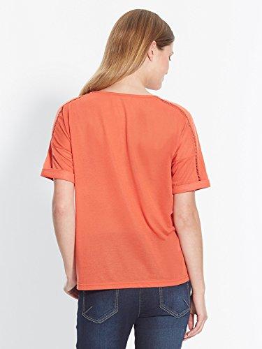 Balsamik - T-shirt manches roulottées - femme Paprika