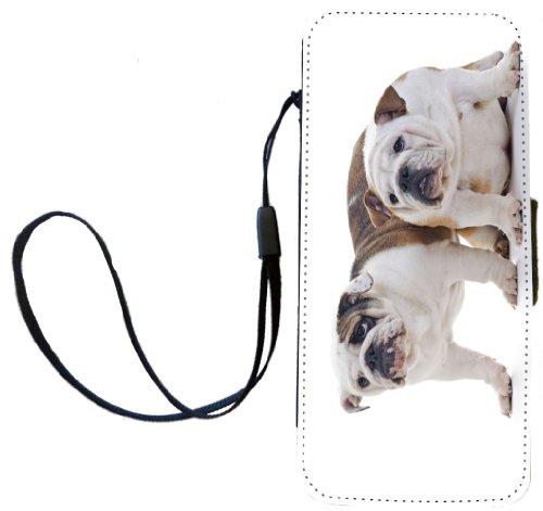 Rikki Knight englischen Bulldoggen Hund Design Flip Wallet iphonecase mit Magnetverschluss für Apple iPhone 5C
