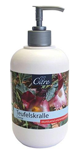 JS-Care Teufelskralle Creme 500 ml Tiegel | Salbe | Balsam | bei Rücken- und Gelenkschmerzen | Schmerzlindernd | Abschwellend | Entzündungshemmend