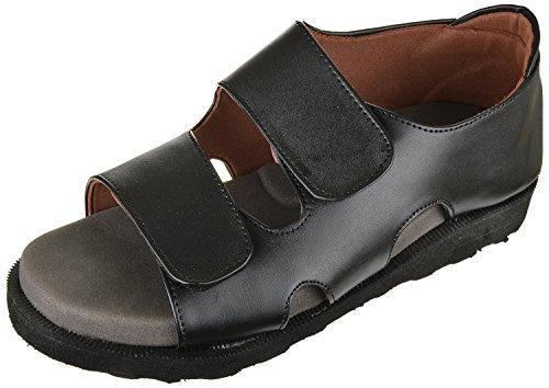 Medifoot Diabetic & Ortho Care Reducing Heel Pain Black Footwear/Sandal for Men (1303BL)