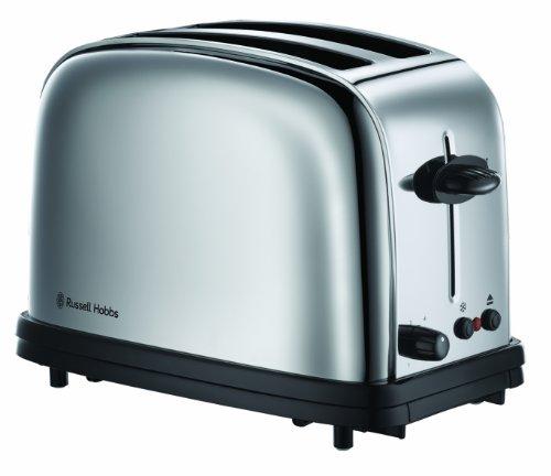Russell Hobbs 20720-56 Chester - Tostadora de acero inoxidable pulido, función para pan congelado, función levantar y ver
