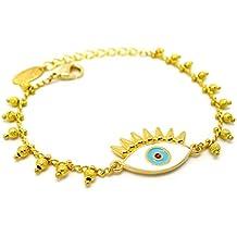 e03420071bb03 Les Bijoux Acidulés - Bracelet doré Oeil Porte-Bonheur - Bijoux Fantaisie  Tendance pour Femme