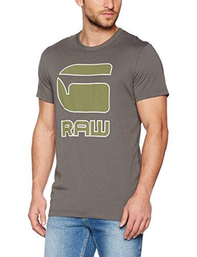 G-STAR RAW Herren T-Shirt Cadulor R T S/S, Grau (Gs Grey 1260), Large