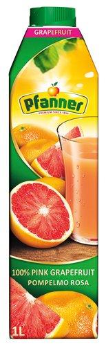 8x Pfanner - Pink Grapefruit-Saft 100% - 1000ml