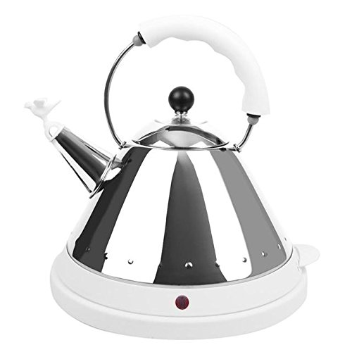 Alessi Stainless Steel Electric Kettle (MG32W-UK) 1.5L, White