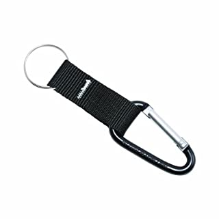 Advantus Carabiner Key Chain with Polyester Strap and Split Key Ring, Black, 10 Key Chains/Pack (75556) by Advantus