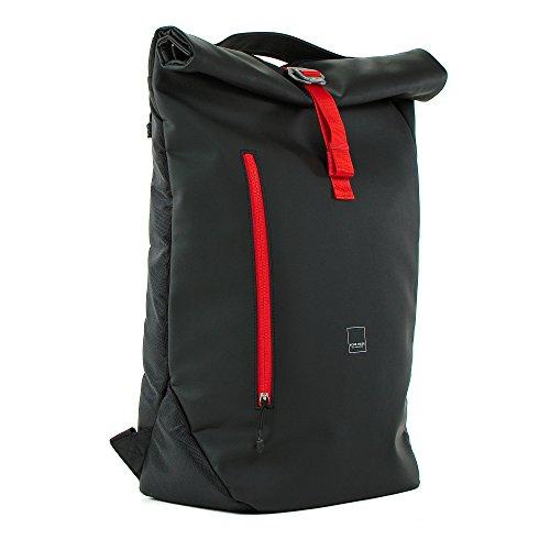 Acme Made, AM20211-HT, North Point, aufrollbarer Tagesrucksack/Tasche, Schwarz/Orangerot
