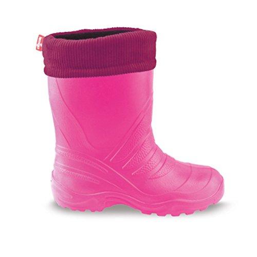 LEMIGO Kinder EVA Gummistiefel gefüttert leicht TERMIX 861 (36/37, pink)