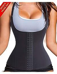 8036400f5 LaLaAreal Fajas Reductoras Corset Cincher Bustiers Corsé Adelgazantes de  Cinturón Formación para Body Shaper Mujer (Negro/con Correas,…