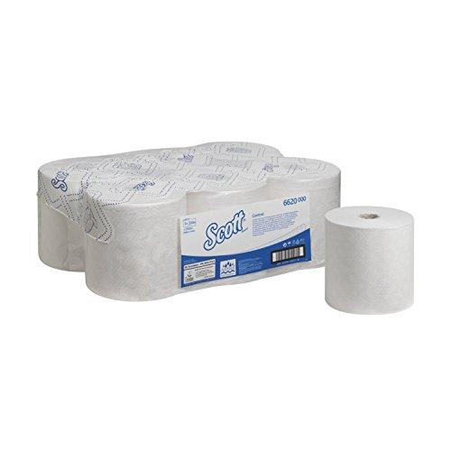 SCOTT* Control Rollenhandtücher, 6620 – 6 Rollen à 250 m, weiß, 1-lagig