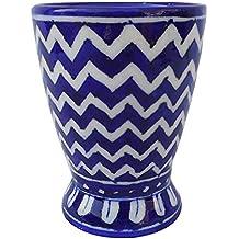 Aditya Blue Art Pottery Pencil Holder, 7.5 cm x 10 cm