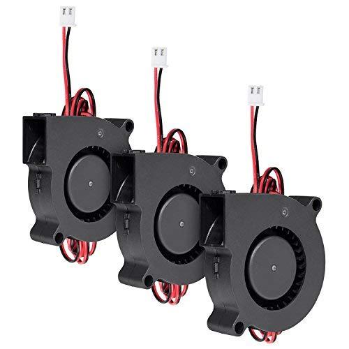 Diealles 3 Piezas Ventilador de Enfriamiento DC 12V para Impresora 3D 50...