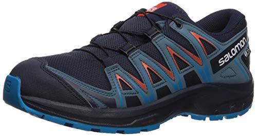 Salomon Kinder XA Pro 3D CSWP J, Trailrunning-Schuhe, Wasserdicht, Blau (Navy Blazer/Mallard Blue/Hawaiian Surf), Größe 37