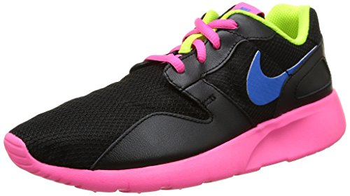 Nike  Kaishi (Gs), Scarpe per bambini, Ragazza, Multicolore (Black/Photo Blue-Pink Pow-Volt), 38