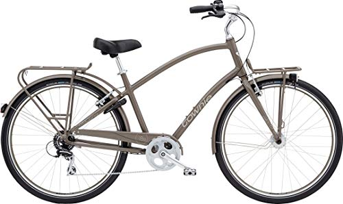 Electra Townie Commute 8D EQ Herren Fahrrad 28 Zoll Beach Cruiser Rad Beleuchtung, 54427, Design Braun - Thunder Grey -