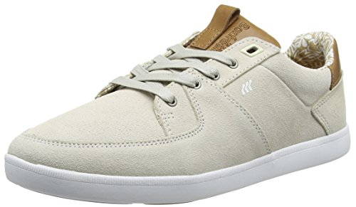 Boxfresh CLADD INC SDE/Lea Off WHT/Tan, Sneakers Basses Homme - Blanc - Weiß (Off White/Tan), 41