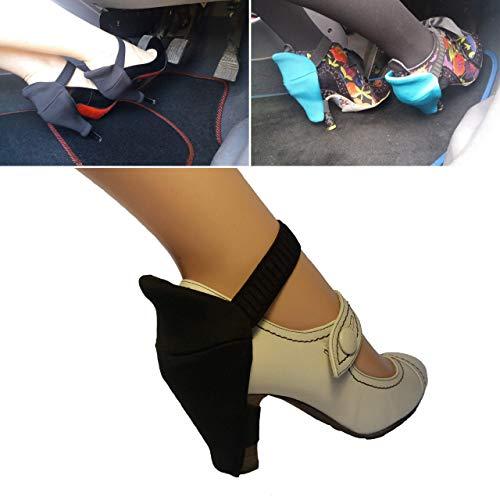 Protezioni tallone per le donne a guidare senza tacchi graffiati guida in tacchi prevenzione dei graffi perfetto per le donne guidatrici nero larga tacco coperture